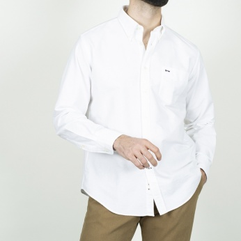 Camisa Severino Oxford blanco lisa