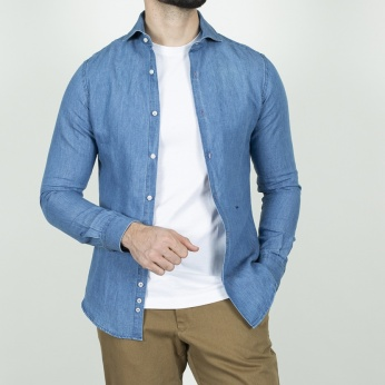 Camisa Venancio denim medio
