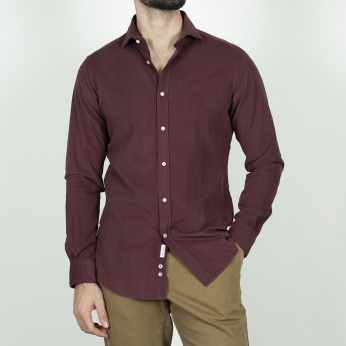 Camisa Venancio micropana granate
