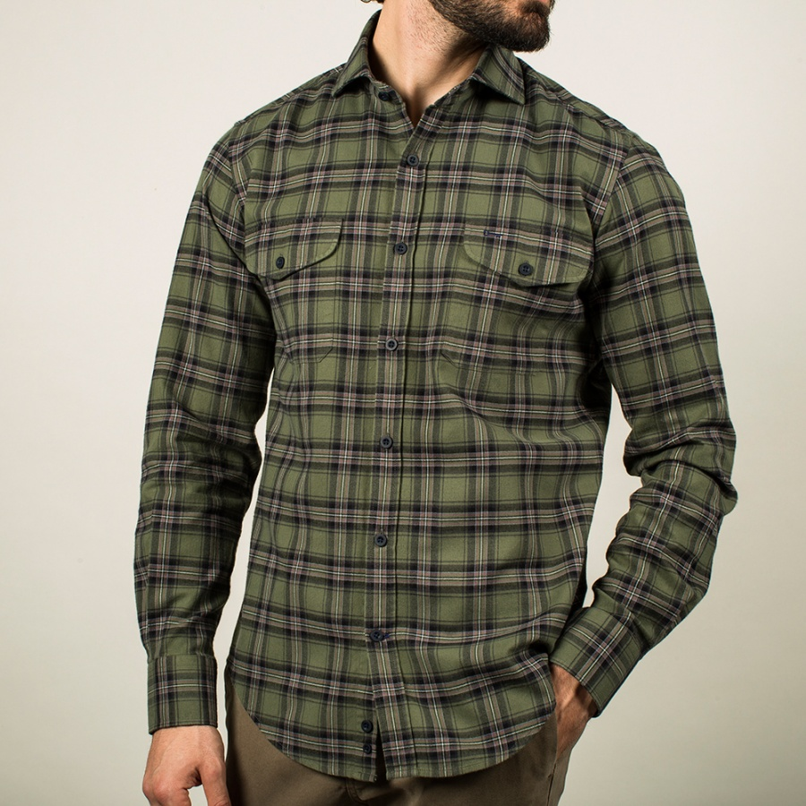 Camisa Verde Cuadros Country