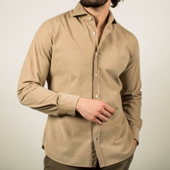 Camisa Magallanes micropana beige