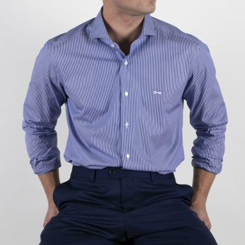 Camisa Cosme azul intenso